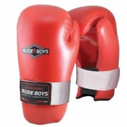 GUANTES SEMI CONTACT RUDE BOYS Rojo